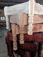 Different shades of wood carving - an art of Kutch