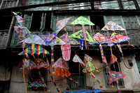 Colorful kites for sale in the old quarter of Kathmandu