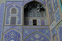 The vibrant blues of Sheikh Lotf Allah Mosque, Isfahan, Iran