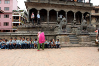 School Kids come for a day out at Patan Heritage Site