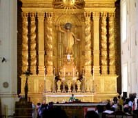 The main altar at Basilica of Bom Jesus, Old Goa, India