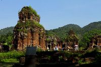 Beautiful green ruins of My Son Kingdom - a UNESCO World Heritage Site