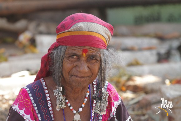 Portrait of Tribal woman at Hampi, Karnataka, India